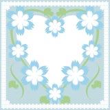 Vue avec le coeur et les fleurs Photographie stock libre de droits