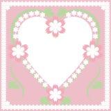 Vue avec le coeur et les fleurs Photos libres de droits
