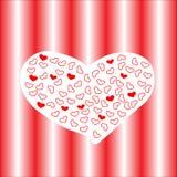 Vue avec le coeur rouge valentine Photographie stock libre de droits