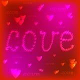 Vue avec le coeur rouge valentine Images stock