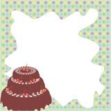 Vue avec le gâteau Image stock