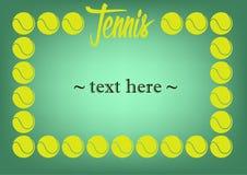 Vue avec le tennis Photographie stock