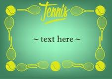 Vue avec le tennis Photo stock