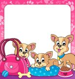 Vue avec le thème 3 de chien Photos libres de droits