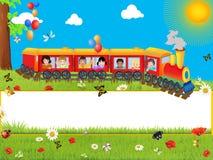 Vue avec le train Image stock