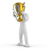 Vue, avec le trophée Photos stock