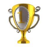 Vue, avec le trophée Image libre de droits