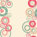 Vue avec les bulles abstraites de caramel Images libres de droits
