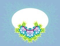 Vue avec les fleurs abstraites Illustration de Vecteur