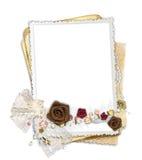 Vue avec les fleurs et la proue de tissu Image stock