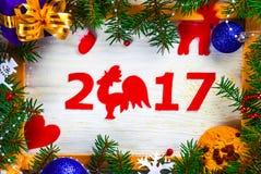 Vue avec les nombres de la nouvelle année Photo libre de droits