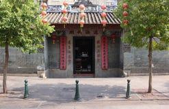 Vue avec Lin Kai Temple dans Macao Photographie stock libre de droits