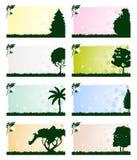 Vue avec un arbre Photo stock