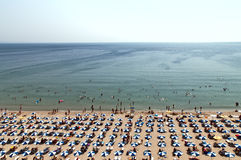 Vue bird's-eye Bulgarie de jour de plage chaude d'Albena Photo stock