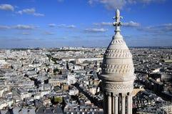 Vue Bird's-eye de ville Paris Images libres de droits
