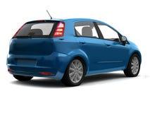 vue bleue arrière de berline avec hayon arrière de véhicule Photos libres de droits