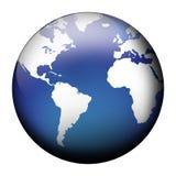 Vue bleue de globe Image stock