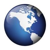 Vue bleue de globe Image libre de droits