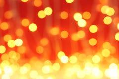 Vue brouillée des lumières de Noël Fond de fête images stock