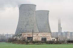 Vue brumeuse industrielle Photo libre de droits