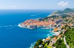 Vue célèbre sur la vieille ville Dubrovnik en Dalmatie, Croatie Photos libres de droits