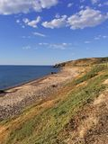 Vue côtière à la plage de crique de Hallett Images libres de droits
