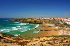 Vue côtière de plage Images libres de droits