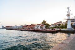 Vue côtière de Salonique, Grèce image stock