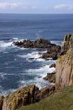 Vue côtière des falaises et de l'Océan Atlantique Images stock