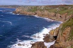 Vue côtière des falaises et de l'Océan Atlantique Photographie stock