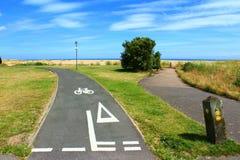 Vue côtière anglaise d'été de chemin Photographie stock