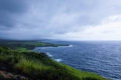 Vue côtière sur la grande île Photos libres de droits