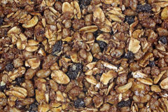 Vue caoutchouteuse de fin de dessus de bar de granola photos libres de droits