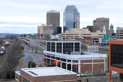 Vue centre de la ville de Springfield, le Massachusetts photos libres de droits