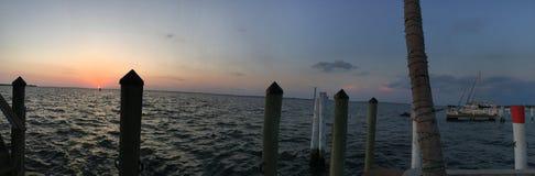 Vue Charlotte Harbour, Punta Gords, la Floride d'oeil du ` s d'oiseau Photo stock
