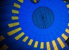 Vue chaude de ballon à air Photo libre de droits