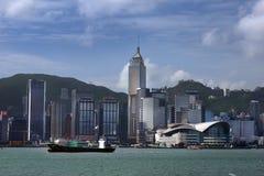 Vue chez Hong Kong de Victoria Harbor Photos stock