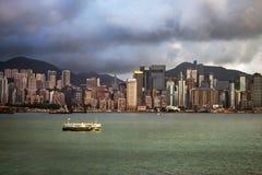 Vue chez Hong Kong de Victoria Harbor Photo libre de droits