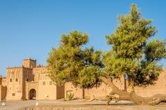 Vue chez l'Amridil Kasbah à l'oasis de Skoura au Maroc Images stock