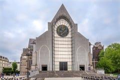 Vue chez le Catheddral de Notre Dame de la Treile à Lille - France image stock