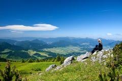 Vue chez Mala Fatra en Slovaquie Image libre de droits