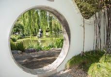 Vue circulaire de jardin image libre de droits