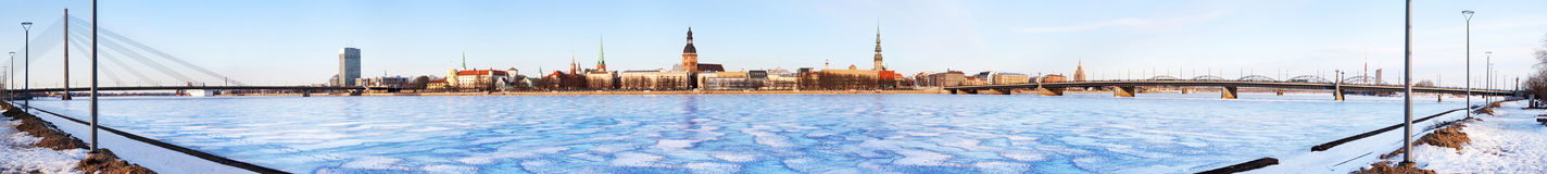 Panorama de Riga Photo libre de droits