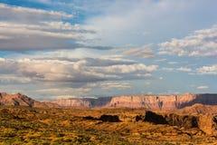 Vue colorée du paysage près de la courbure en fer à cheval, Arizona Photographie stock libre de droits