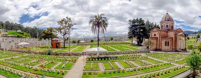 Vue colorée fantastique au-dessus de cimetière de San Diego Image libre de droits