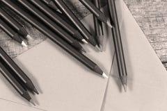 Vue colorée de plan rapproché de crayons Photos libres de droits