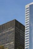 Vue commerciale de verticale de construction Images libres de droits