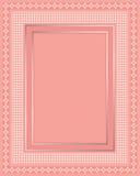 Vue compliquée de lacet avec la configuration de point de polka Photographie stock