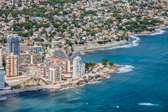 Vue courbe de la marina dans Calpe, Alicante, Espagne photo stock