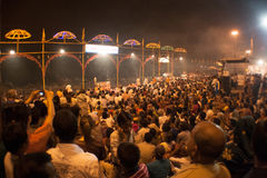 Vue courbe de nuit Puja Photos libres de droits